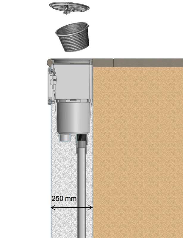 Instalación Skimmer SPS 250 Astralpool con salida Top