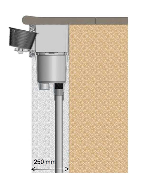 Instalación Skimmer SPS 250 Astralpool con salida lateral