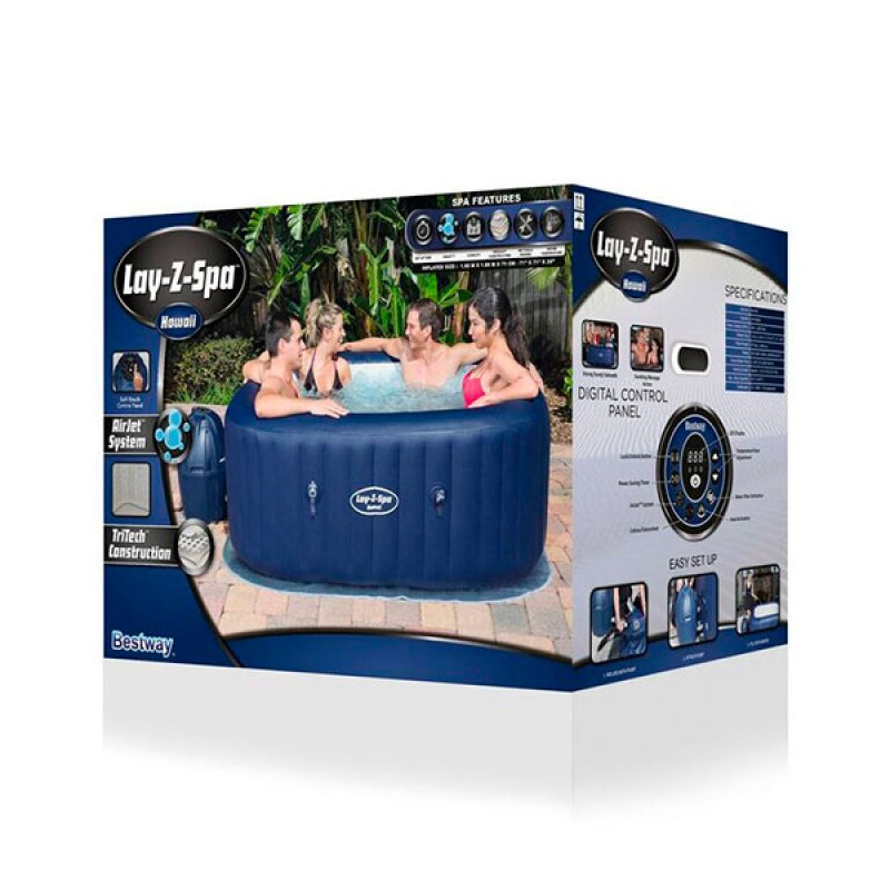 Spa Insuflavel Bestway Lay Z Hawaii 180x180x71 Outlet Piscinas Portugal