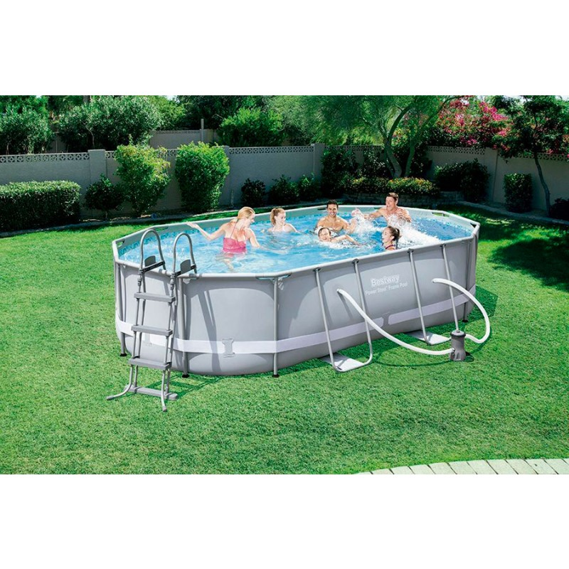 Piscina bestway oval frame 488x305x107 outlet piscinas for Oulet piscinas