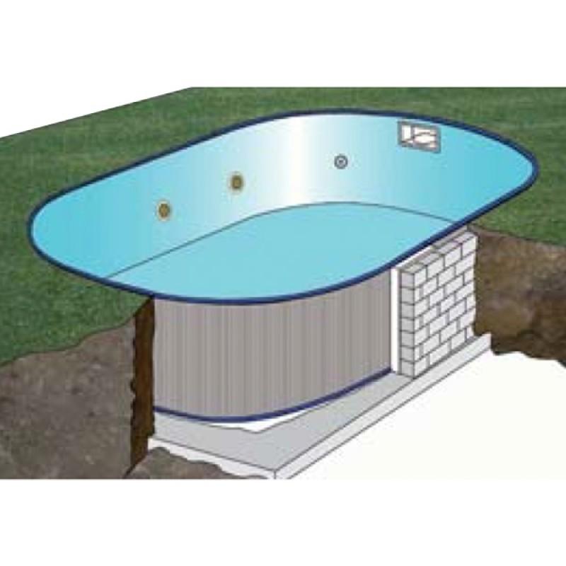 Piscina enterrada gre madagascar oval outlet piscinas for Precios de piscinas para enterrar