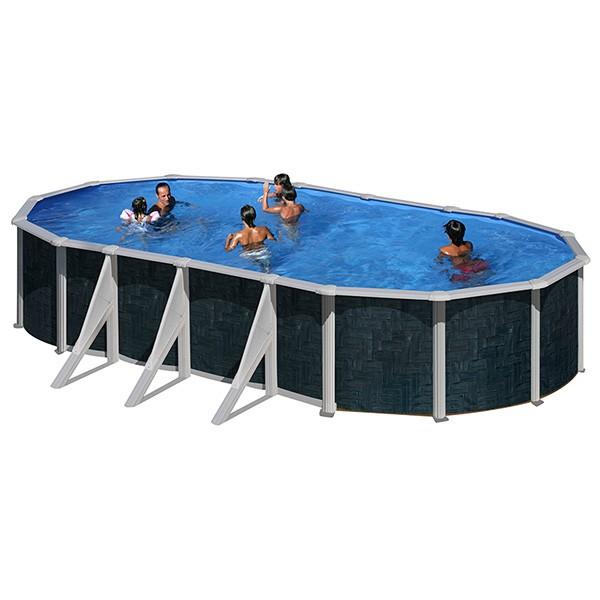 Piscina de a o rattan oval gre outlet piscinas portugal for Outlet piscinas