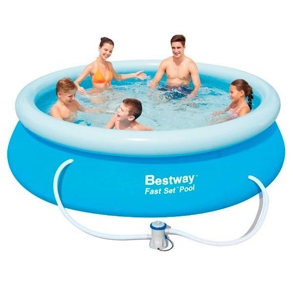Piscina insufl vel bestway fast set 305x76 outlet for Outlet piscinas