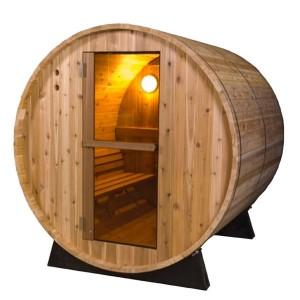 Sauna Exterior Barril Rústica 4 plazas