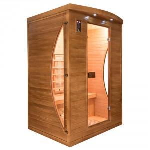 Sauna Spectra 2 plazas visión izquierda