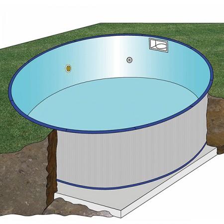 Piscina enterrada Gre circular 150 cm