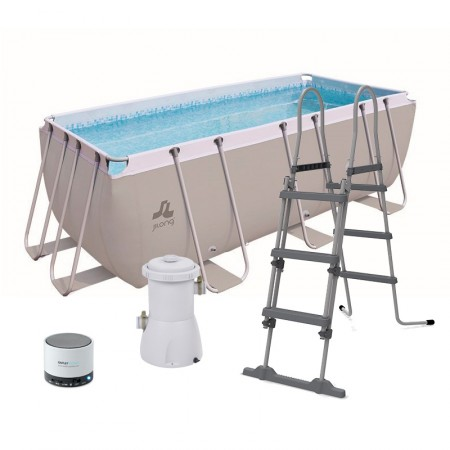 Piscina passaat grey jilong 4x2x0,99 pvc desmontable