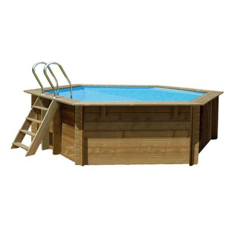 Piscina madeira Gre Sunbay 412x119