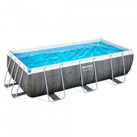 Piscina Power Steel Rattan 404 x 201 x 100 cm
