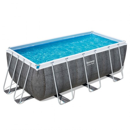 Piscina Power Steel Rattan 412 x 201 x 122 cm