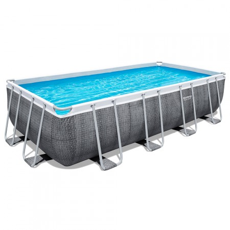 Piscina rectangular Power Steel 549 x 274 x 122 cm rattan
