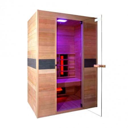 Sauna de infra-vermelhos Jade Dupla