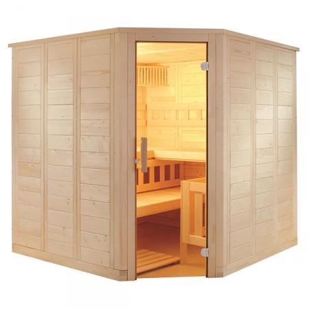 Sauna Vapor Wellfun Corner Tadicional Finlandesa