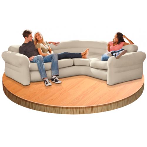Sofa Hinchable Rinconera 257 x 203 x 76 cm de Piscinas Intex - 68575