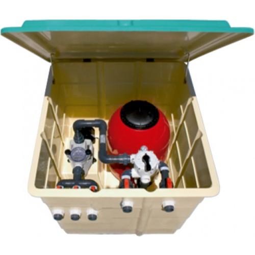 Contenedor Balear BR con filtro y bomba de 1,5 CV