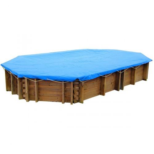 Cobertor invierno piscinas madera Gre ovalada
