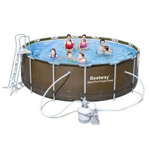 Piscina Power Steel Rattan 427 x 122 cm