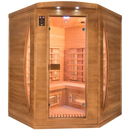 Sauna Spectra 3 plazas visión frontal