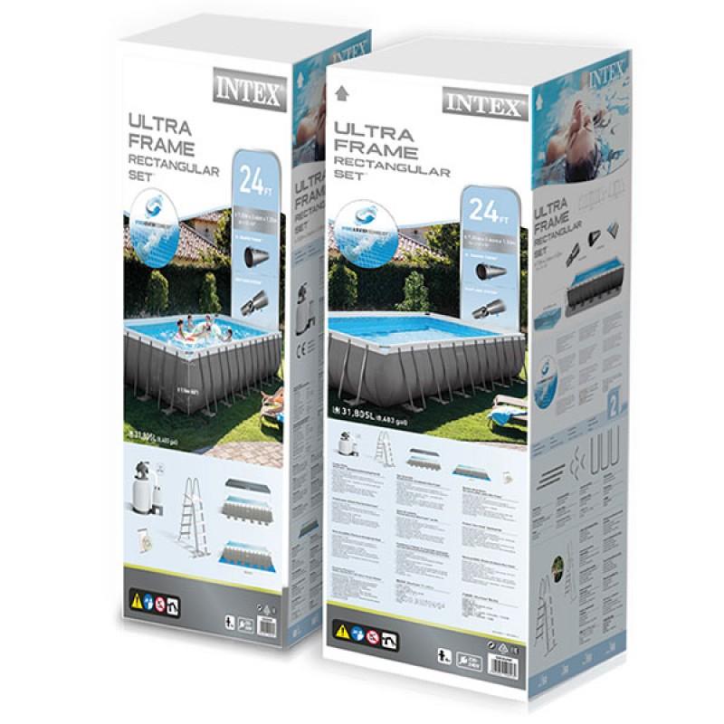 Caja Piscina Intex Ultra Frame 732x366x132cm