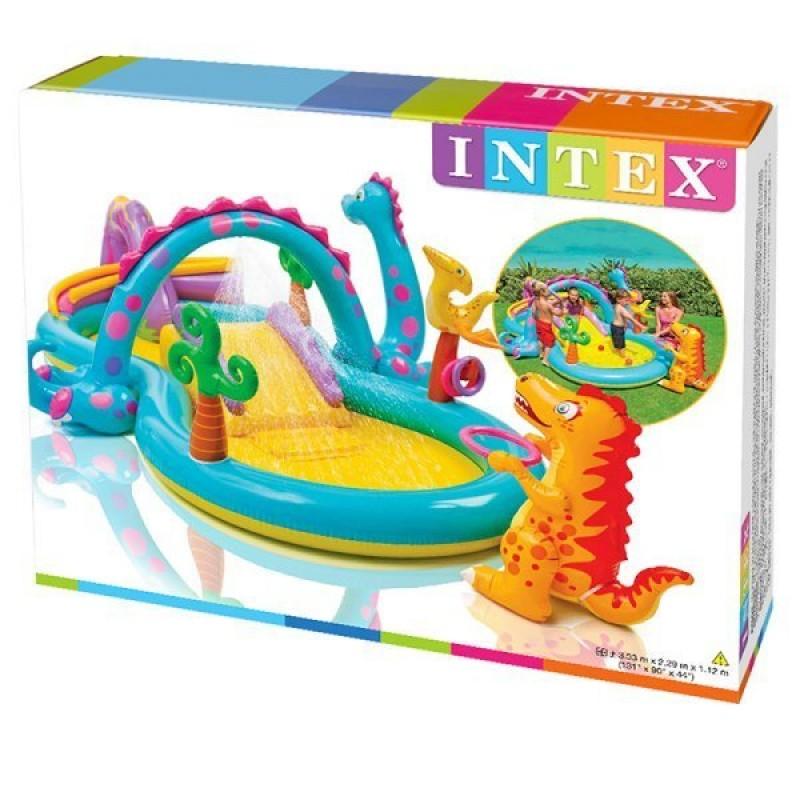 Caja de centro de juegos dinossaurio intex