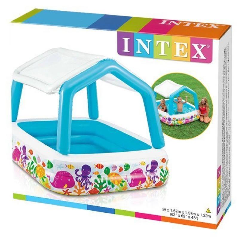Piscina inflável INTEX com caixa de toldo
