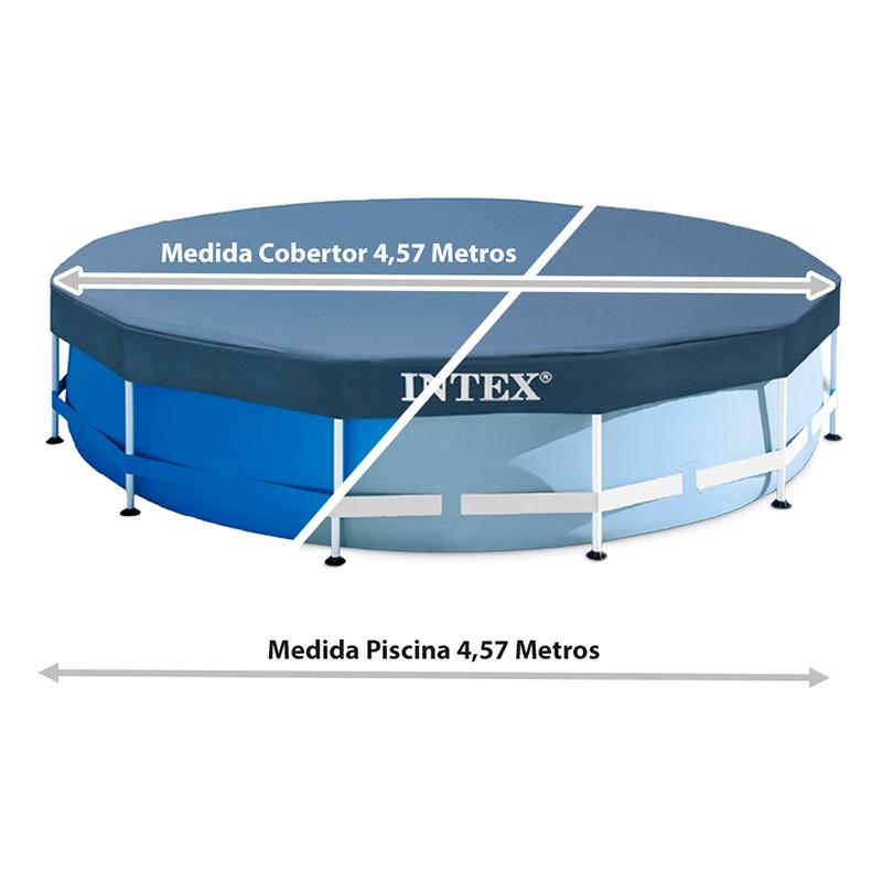 Coberta piscina metal frame intex