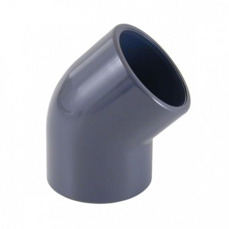 Cotovelo para tubos de fixação 45º Gre