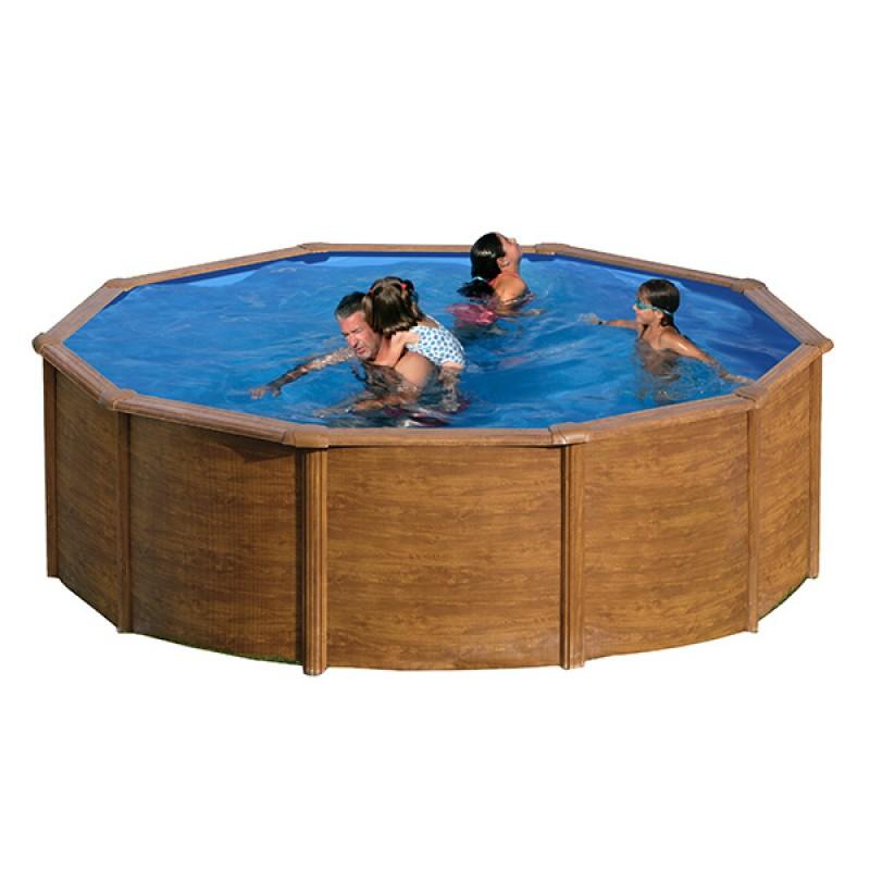 Piscina maldivas madeira circular gre outlet piscinas for Oulet piscinas