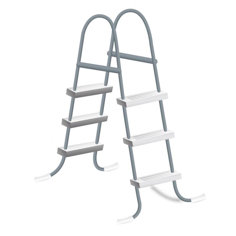 Escada Piscina Intex Prisma Frame 300x175x80cm