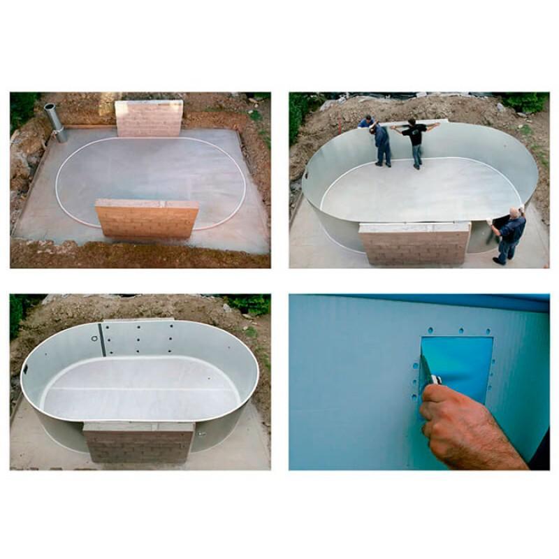 Instalação Piscina enterrada Moorea circular Gre