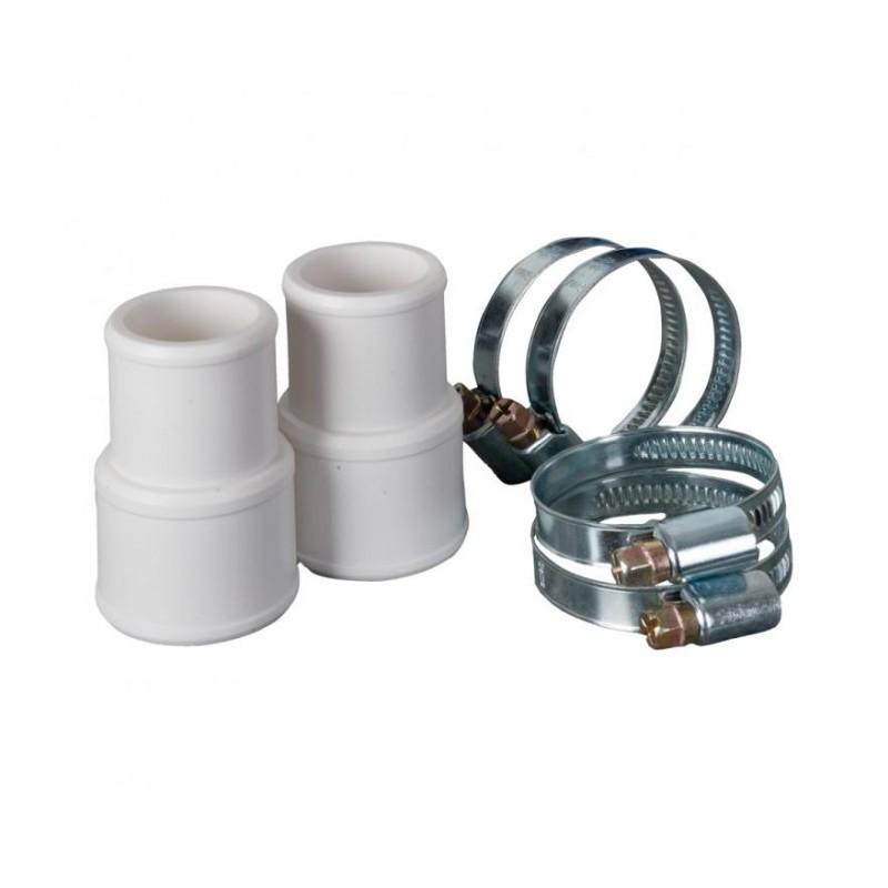 Kit conetores + abraçadeiras Ø 38 mm e Ø 32 mm Gre