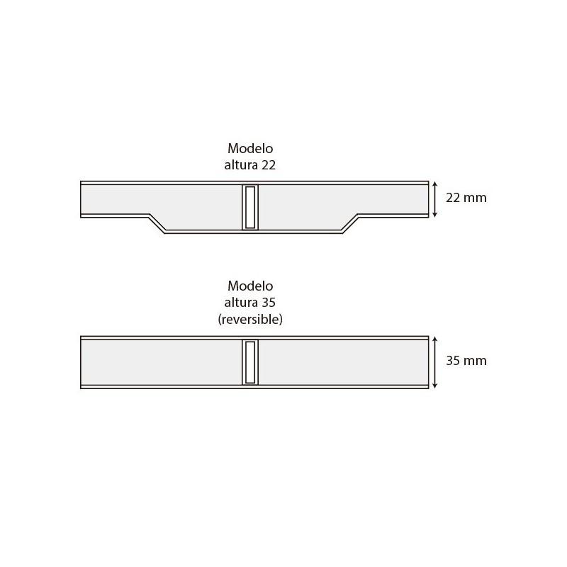 Grade transversal curvas AstralPool Medidas