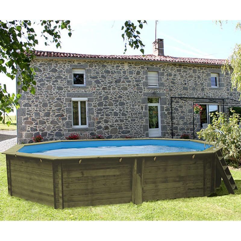 Piscina de madera modelo Sevilla patio -2