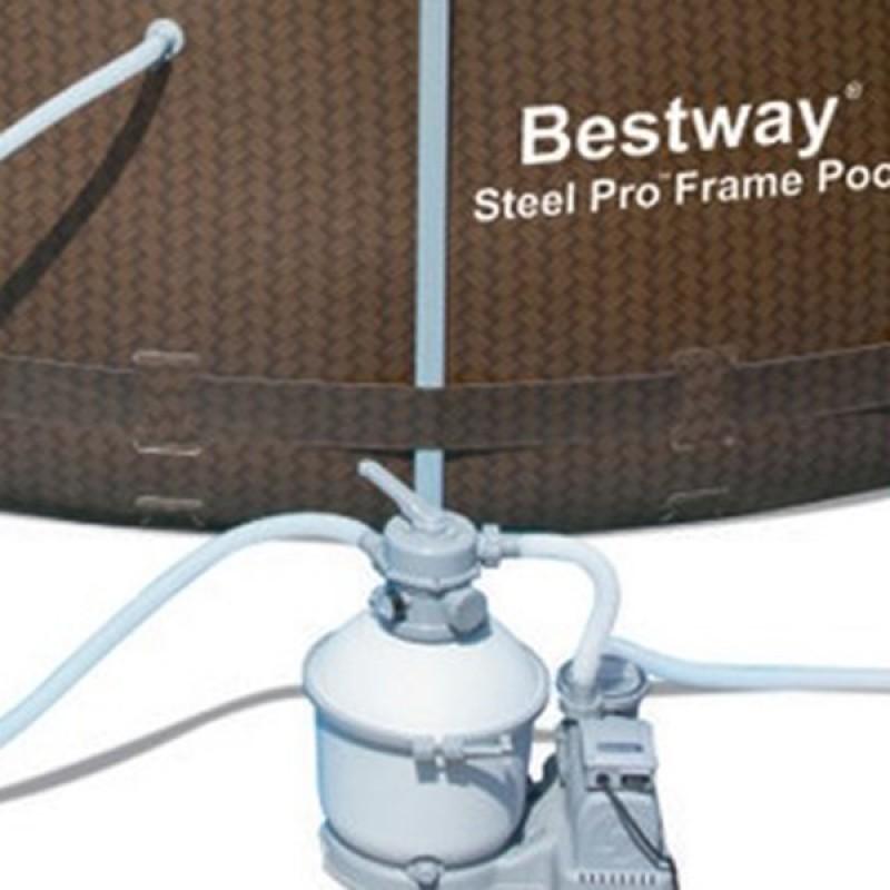 Piscina Power Steel Rattan 427 x 122 cm detalhe