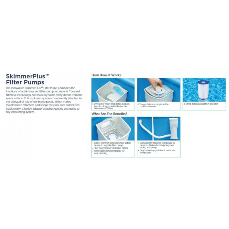 Funcionamiento del skimmer filtrante