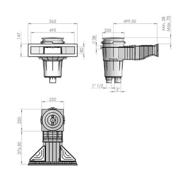 Skimmer NORM AstralPool medidas