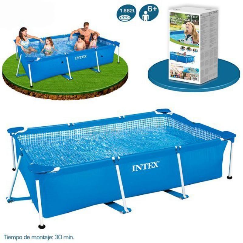 Especificações, medições e montagem da piscina Small Frame