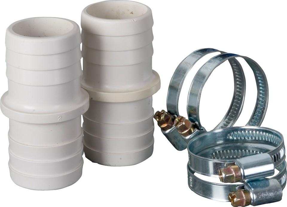 Kit conetores + abraçadeiras 32/38 mm