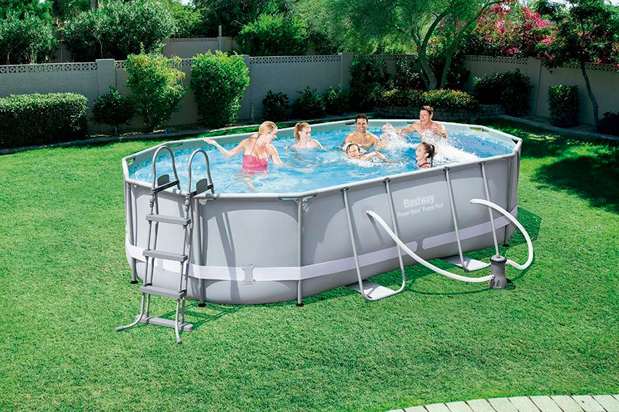 Piscina oval frame 488x205 Bestway