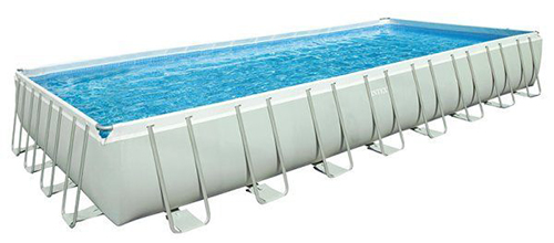 Piscina retangular ultra frame 975 x 488 x 132 cm de intex for Piscina tubular rectangular